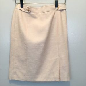 Linen Blend Lined Straight Pencil Skirt
